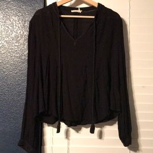 Size 14 - Anthropologie Black Top with Pleats